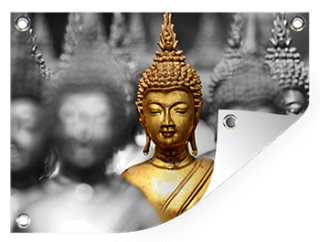 Boeddha op tuinposter printen