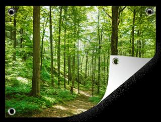Natuurfoto op een tuinposter afdrukken