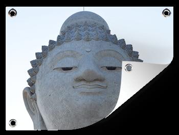 Boeddha vakantiefoto op tuinposter